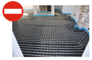 NO FLOOR HEATING