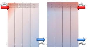 Differente termiche per termosifoni uguali a causa posizionamenti relativi tubi ingresso ed uscita: il ripartitore calore non ne tiene conto