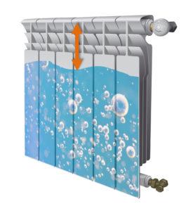 Accumulo di aria internamente al termosifone: la misura del ripartitore calore viene falsata